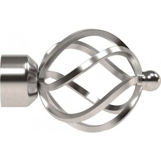 Speedy Poles Apart 28mm Satin Silver Cage Finials (Pair)