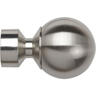 Speedy Poles Apart 28mm Satin Silver Effect Ball Finials (Pair)