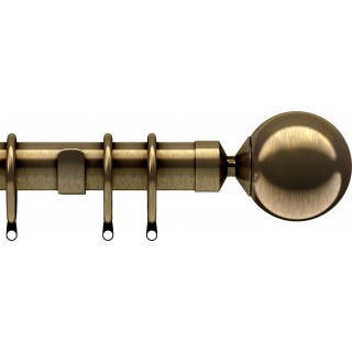 Speedy Nikola 28mm Antique Brass Effect Metal Curtain Pole