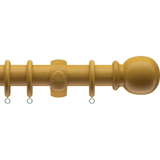 Speedy Victory Wood 28mm Antique Pine Effect Wood Curtain Pole