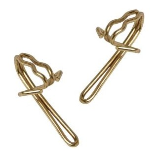 Speedy Brass Curtain Hooks Pk 20 702675