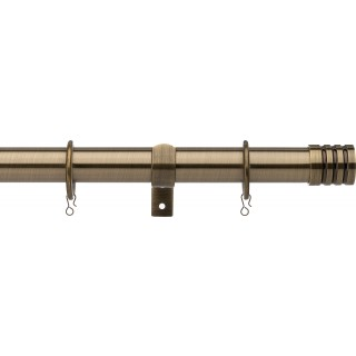 Vogue Deluxe Stud 28mm Antique Brass Metal Curtain Pole