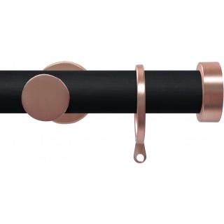 Swish Soho 28mm Black Wood (Vamp) Metal Curtain Pole