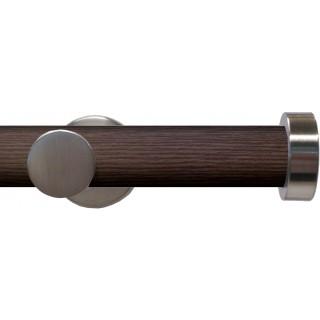 Swish Soho 28mm Brown Wood (Funk) Metal Eyelet Curtain Pole