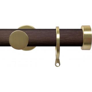 Swish Soho 28mm Brown Wood (Funk) Metal Curtain Pole