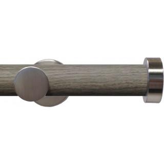Swish Soho 28mm Light Grey Wood (Jazz) Metal Eyelet Curtain Pole