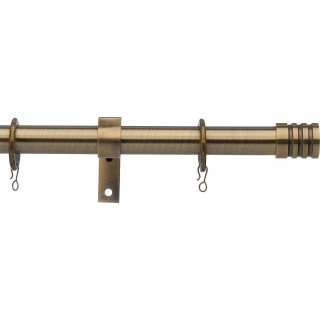 Vogue Deluxe Stud 19mm Antique Brass Metal Curtain Pole