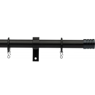 Vogue Deluxe Stud 16/19mm Telescopic Black Metal Curtain Pole