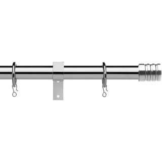 Vogue Deluxe Stud 16/19mm Telescopic Chrome Metal Curtain Pole
