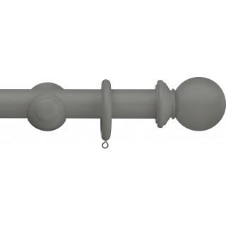 Swish Romantica 28mm Smoke Ball Wood Curtain Pole