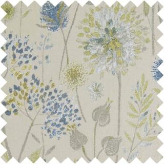 Voyage Flora Linen Fabric FLORALINEN/DUCKEGG