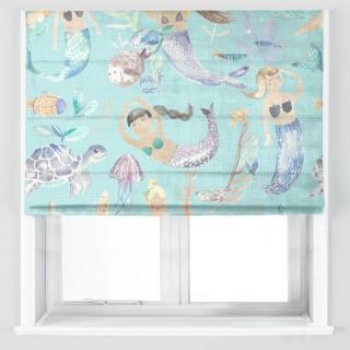 Mermaid Party Fabric MERMAIDPARTY/AQUA by Voyage
