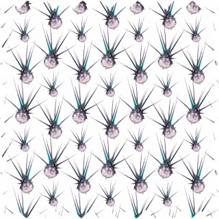 Earthed Egyptian Thistle Teal/Violet Fabric