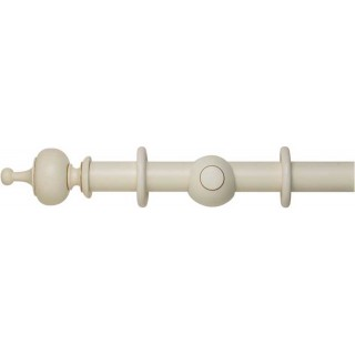 Museum Handcrafted 35mm Antique White Effect Wood Curtain Pole