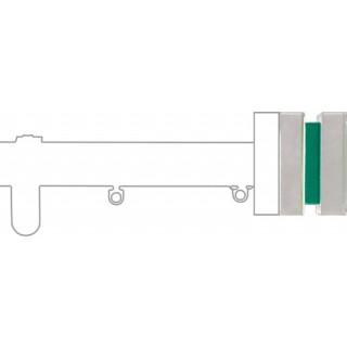 Silent Gliss 6130 Metropole 30mm Emerald Green Glass Finial