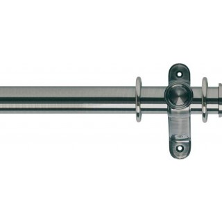 Museum Galleria 35mm Brushed Silver Effect Metal Curtain Pole