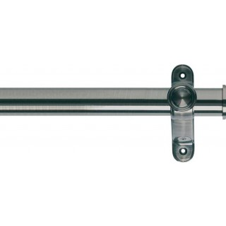 Museum Galleria 50mm Brushed Silver Effect Metal Eyelet Curtain Pole