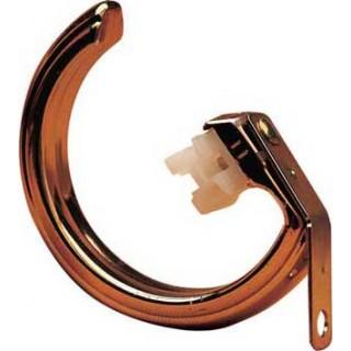 Harrison Drape Royal Orb 38mm Brass Effect Rings